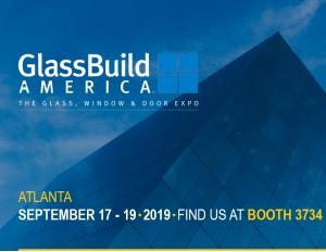 Aluro NV. present at the 17th edition of GlassBuild 2019 in Atlanta.