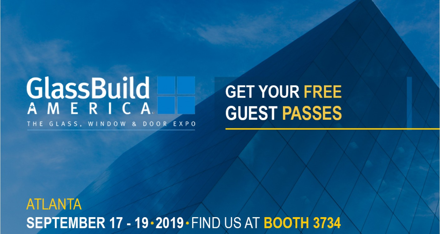 Come to the GlassBuild America exhibition as an Aluro Guest